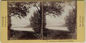 Potsdam Babelsberg Aussicht Nach Ponte Germania Foto Stereo Vintage Albumina
