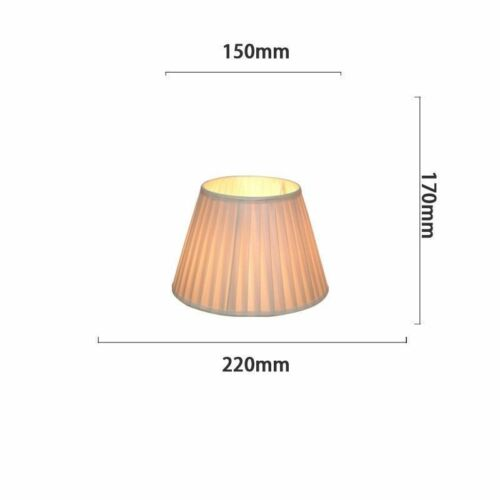 Fabric Box Pleat Drum Lampshade Table Light Pendant Solid Floor Lamp Shade Cover