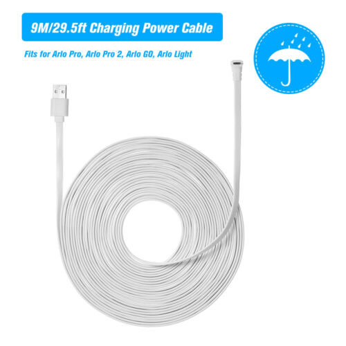 Charging Power Cable Fit for Arlo Pro 2 GO Weatherproof Flat Micro USB Cord J6M0