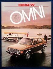 Prospekt brochure 1979 Dodge Omni (USA)