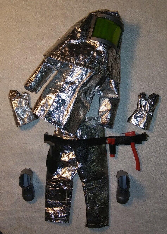 Vintage 1964 Gi Joe CRASH CREW Costume Capuche Ceinture Gants Bottes