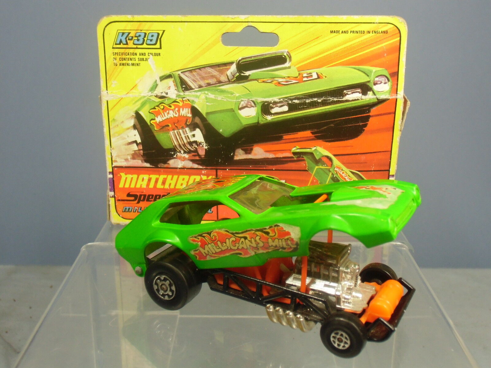 MATCHBOX SPEED KINGS MODEL No.K-39  MILLIGANS MILL  HOT HOT HOT ROD VN MIB 1a6707