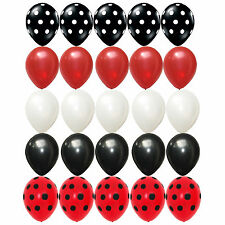 25x Latex Balloons Mickey Mouse Polka Dots Black Red White Kid