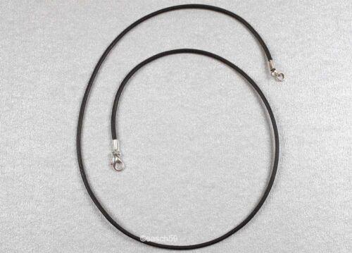 Lederkette nach MASS 2mm Leder Kette Lederhalskette Lederhalsband schwarz 52 SK