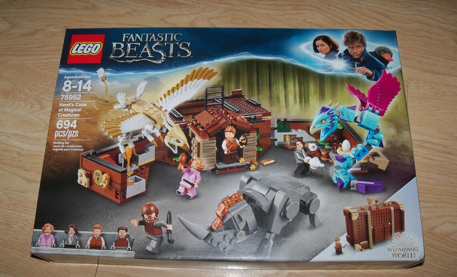 Nuovo Lego 75952 Fantastic Beasts Nuovot's Case of Magical Creatures Wizarding World