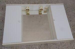 Armadietto pensile per bagno laminato bianco con specchio ebay