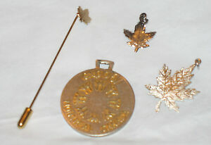 LOT-Canada-Jewelry-Sterling-Silver-Charm-Key-Fob-Pendant-Stick-Pin-Canadian