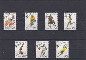 TANZANIE-1994-SPORTS-7-TIMBRES-OBLITERE-YT-1513-A-1519