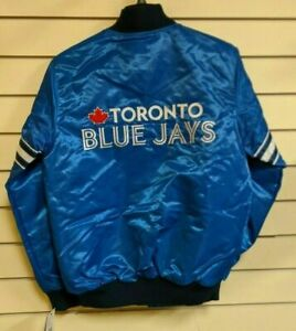 Starter-MLB-Men-039-s-Toronto-Blue-Jays-Adult-Satin-Jacket