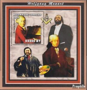 Africa Never Hinged 2002 Composers Easy And Simple To Handle Mozambique Block144 Unmounted Mint Mozambique