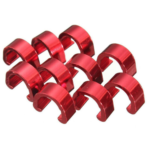 10x MTB Fahrrad Cycle C-Clips Buckle Hose Bremse Gear Kabel Housing Guide