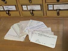 100 Vtg Library Card Catalog Index Scrapbook Wedding Paper Ephemera 4 7/8 x 3