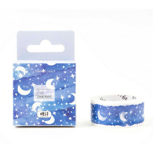 moon star washi tape diy decoration scrapbooking adhesive sticker stationery HGx