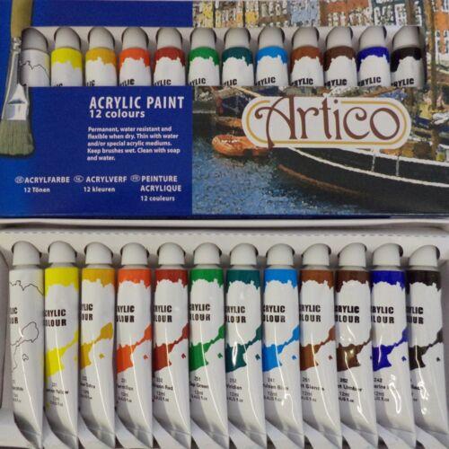 12 PC acrílico artistas conjunto de pinturas Hobbies Manualidades Modelo Cepillo línea de pintura aire