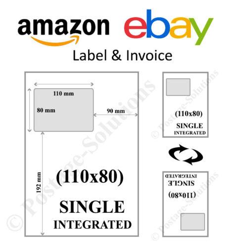 A4 fattura  Amazon indirizzo etichetta SMP SM appiccicoso Integrato Peel Off