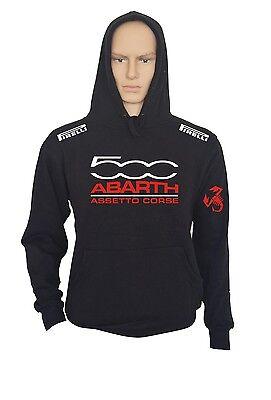 ABARTH Fun Kapuzenpullover mit Tasche Hoodie Sweatshirt SCHWARZ FIAT | eBay