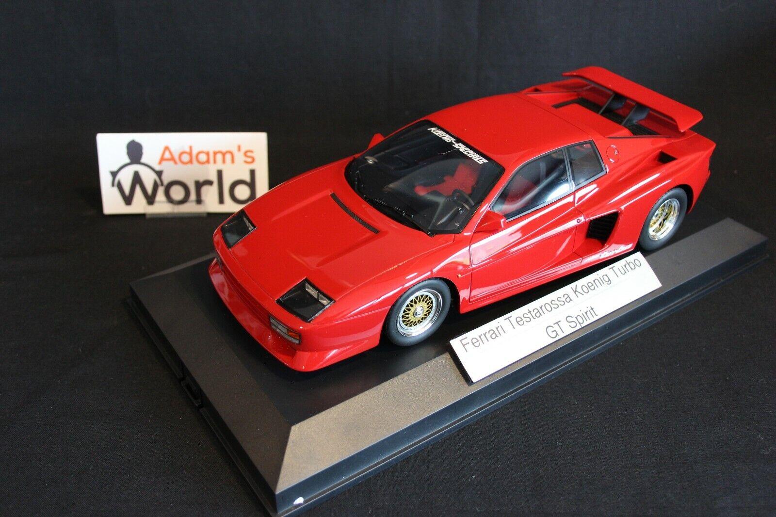 tienda de venta GT Spirit Ferrari TeEstrellaossa Koenig Bi-Turbo Bi-Turbo Bi-Turbo 1 18 rojo (PJBB)  directo de fábrica