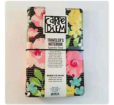 Carpe Diem Typewriter Floral Notebook Planner Cover With 1 Insert