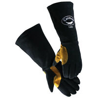 Caiman 1449 18 Premium Leather Stick Welding Gloves, Kevlar Stitched