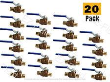20 Pcs 12 Heavy Duty Pex Brass Full Port Water Stop Shutoff Ball Valves Lf Upc