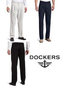 Dockers Men/'s Easy Khaki Classic Fit Pleated Pants