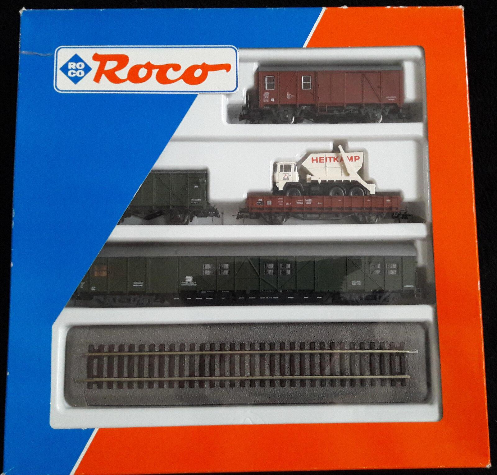 Roco 44023, Set Bauzug  Heitkamp  4-tlgBeladungGleis neu unbespielt in OVP  | Ausgezeichnet (in) Qualität