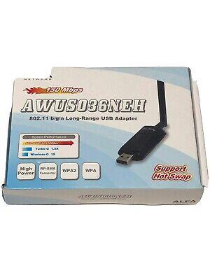 ALFA AWUS036NEH Long Range WIRELESS 802.11b//g//n Wi-Fi USBAdapter