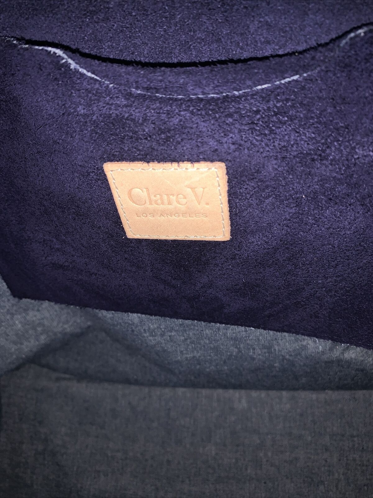 Claire V Simple Blue Suede Tote - image 7