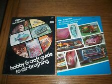 (2)  1978  BADGER AIR-BRUSHING GUIDES - VINTAGE MODEL  & CAR PAINTING