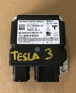 Tesla Model 3 Module Computer SRS Restraint Control 2017 ...