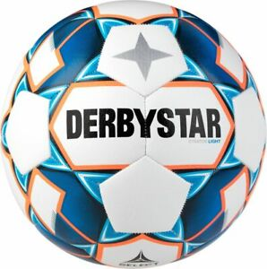 Derbystar Fußball Stratos Light weiß blau orange