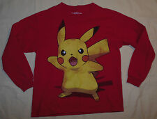 Rare 2012 Nintendo Pokemon Pikachu Character T Shirt Red L Youth / Small Mens