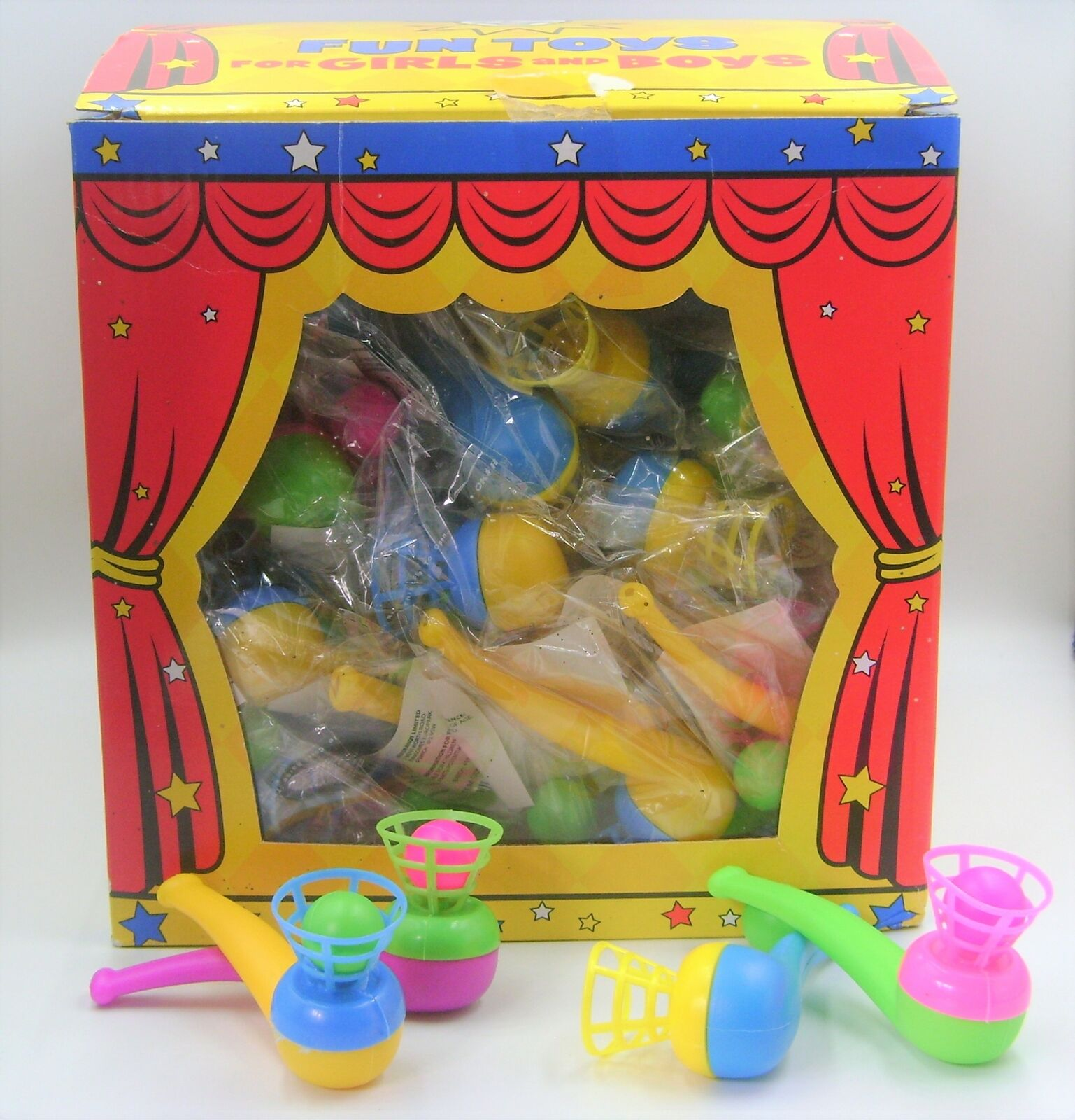 NEW BULK BOX OF 72 BLOW WHISTLE TOYS HB LOADS OF FUN  -)