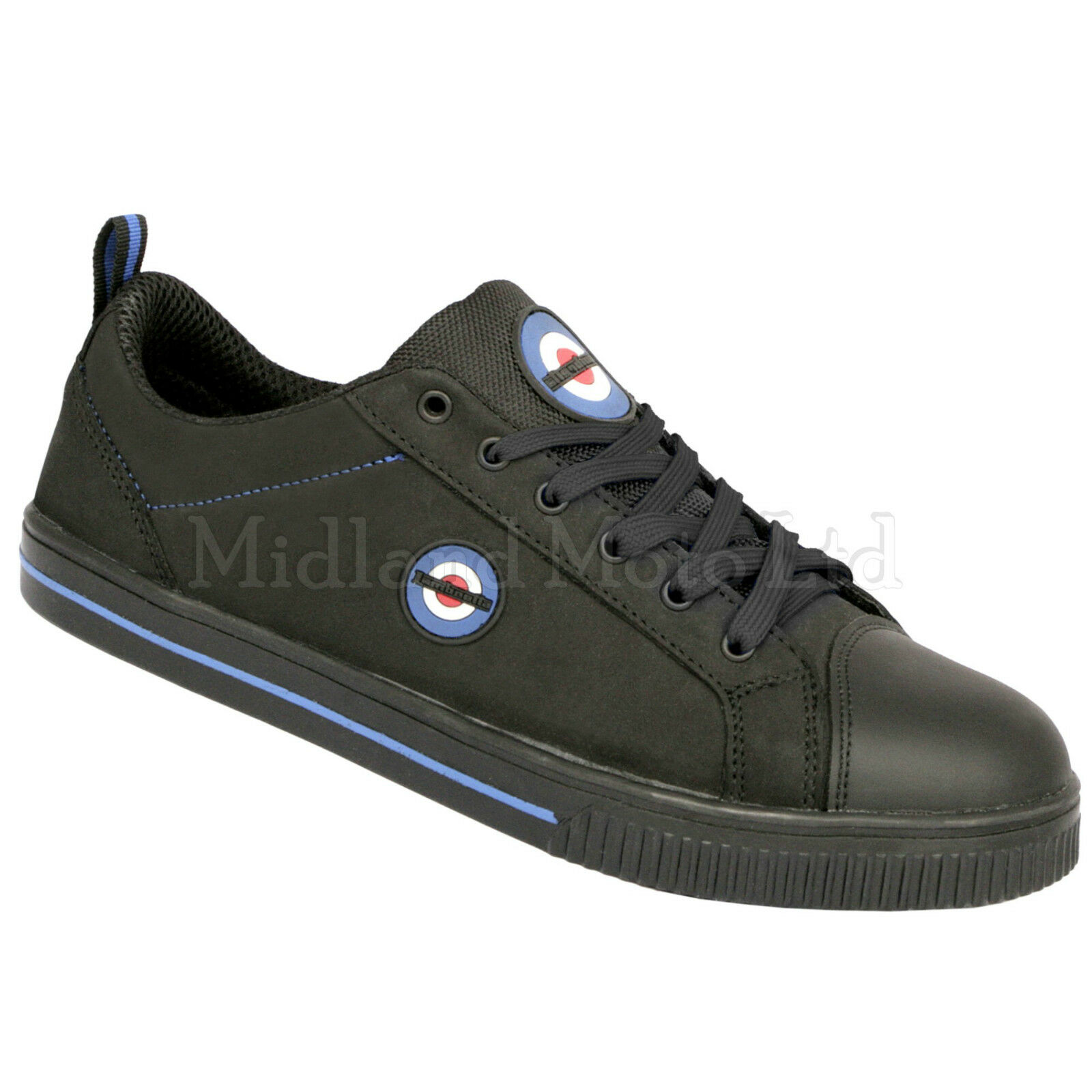 Lambretta Safety Steel Toe Cap Plimsoll Skater Style Shoe. Trainers Pumps. DB002