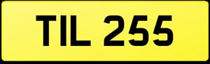 TIL 255 BARGAIN DATELESS PRIVATE CAR REG NUMBER PLATE TILLEY TI TL TILLIE TILLY