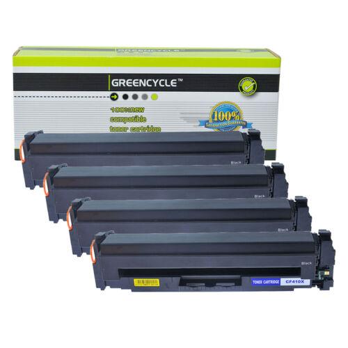 4PK Compatible For HP LaserJet Pro MFP M377dw CF410X Black Toner cartridge 477X