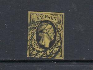 Tedesco antico Sassonia mi-N. 6 timbrato