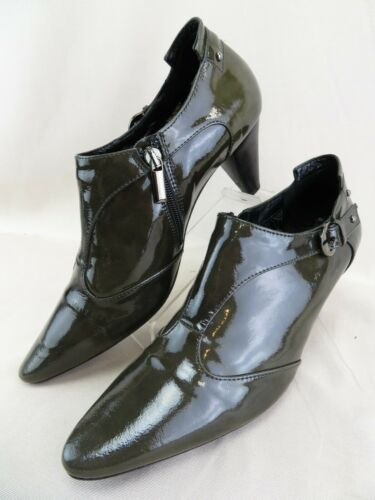 Aquatalia Marvin K Patent Leather Side Zip Booties