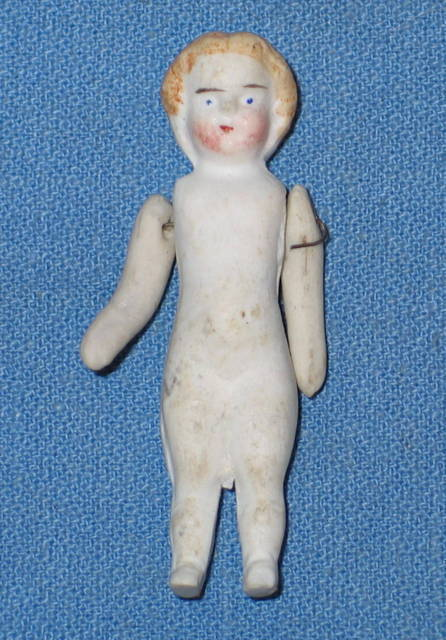 Antique BISQUE DOLL made in Germany 4/0