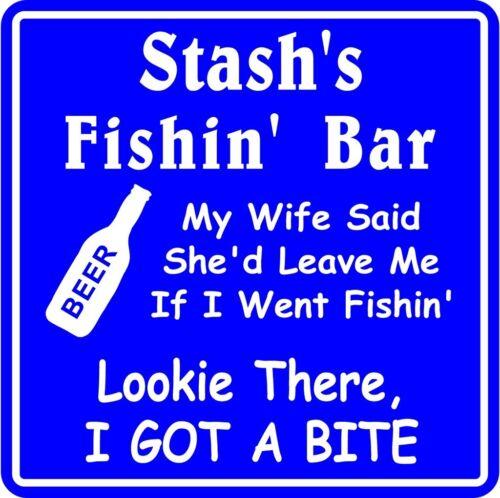Personalized Fishing Bar Beer Tavern Pub Gift Fish Wall Sign #14 Custom USA Made