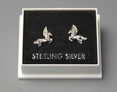 PEGASUS DESIGN BUTTERFLY BACKS STERLING SILVER 925 STUD 150 STUD EARRINGS