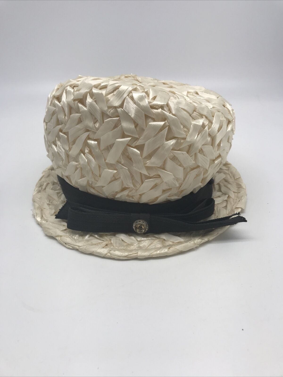Vintage 30's 40's United Hatters Straw Hat Ladies… - image 1