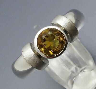 100% QualitäT Reif-design - Eleganter Citrn Ring - Aus Eigener Goldschmiede - 925 Silber Rhod.