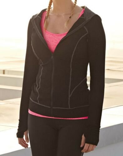 Bravissimo 8-18 CRC RSC Hoodie Sports Running Fitness Jacket Sweatshirt Black