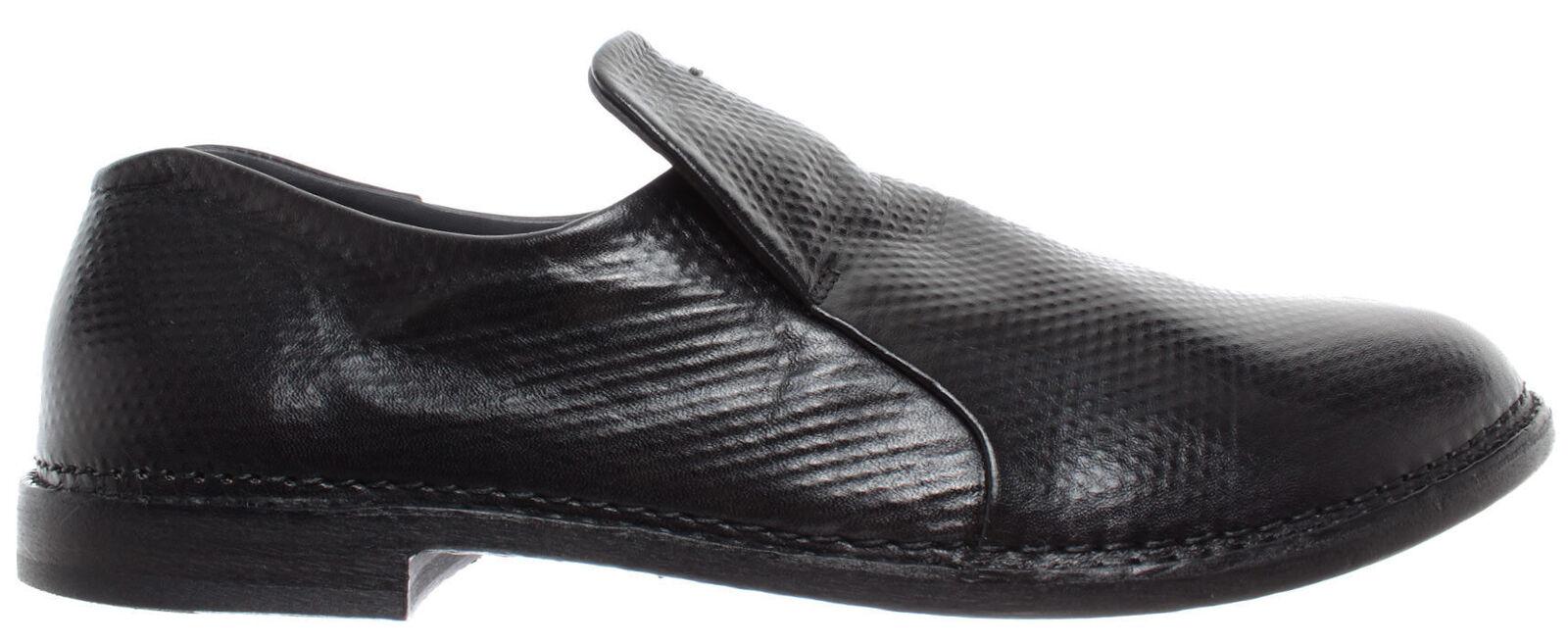 PANTANETTI Zapatos Hombres Mocasines 12567G Illium Piel Negro Hecho En Italia