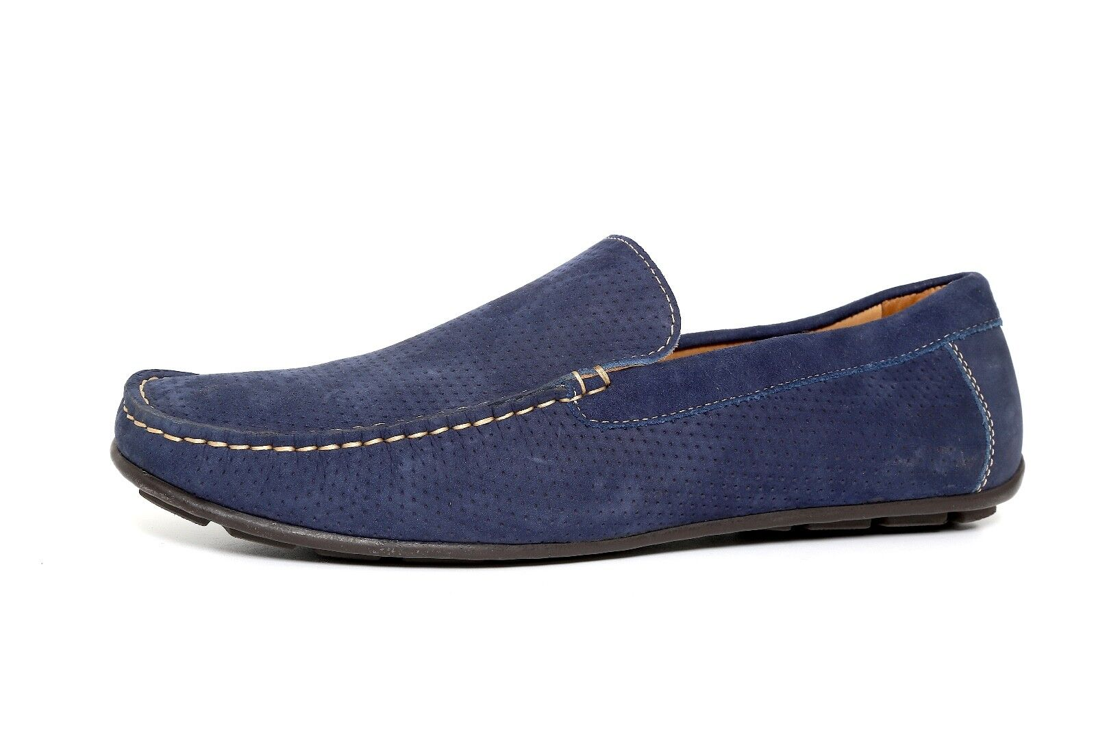 1901 bluee Leather Men Perforated Loafer Size 12M 1178