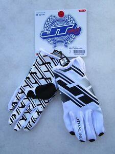 JT-RACING-men-039-s-motocross-gloves-PRO-FIT-TRACKER-size-SMALL-JT18415G02-white
