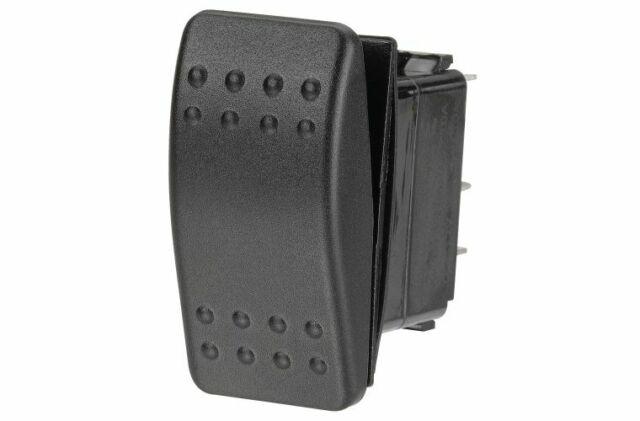 Narva Rocker Switch Sealed 12/24V Black On Off On 63106BL