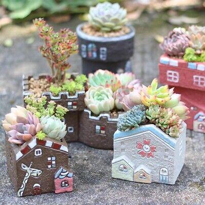 """Cute Animal Succulent Plants Pot Ceramic Planter Home Garden Decor 5/"""" Colors"""