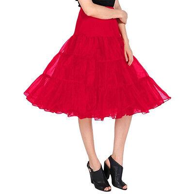 Dressystar Vintage 1950s Short Tulle Petticoat Ballet Bubble Tutu 30 Colors